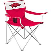 Logo Arkansas Razorbacks Team-Colored Canvas Chair