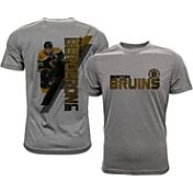 Levelwear Men's Boston Bruins Patrice Bergeron #37 Grey Spectrum T-Shirt