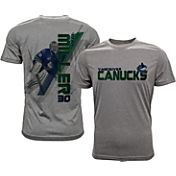 Levelwear Men's Vancouver Canucks Ryan Miller #30 Grey Spectrum T-Shirt