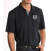 Levelwear Men's Los Angeles Kings Sliced Black Polo