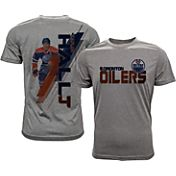 Levelwear Men's Edmonton Oilers Taylor Hall #4 Grey Spectrum T-Shirt