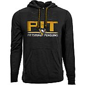 Levelwear Men's Pittsburgh Penguins Scoreboard Black Hooded T-Shirt
