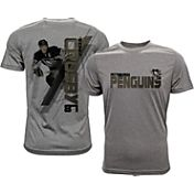 Levelwear Men's Pittsburgh Penguins Sidney Crosby #87 Grey Spectrum T-Shirt
