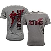 Levelwear Men's Detroit Red Wings Pavel Datsyuk #13 Grey Spectrum T-Shirt