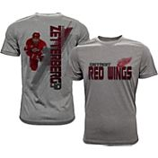 Levelwear Men's Detroit Red Wings Henrik Zetterberg #40 Grey Spectrum T-Shirt