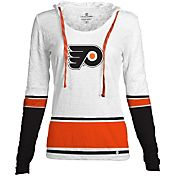 Levelwear Women's Philadelphia Flyers Laced Up Lucy White Pullover Crewneck Hoodie T-Shirt