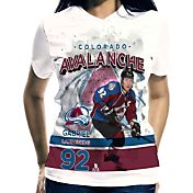 Levelwear Women's Colorado Avalanche Gabriel Landeskog #92 Center Ice White T-Shirt