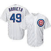 Majestic Men's Replica Chicago Cubs Jake Arrieta #49 Cool Base Home White Jersey