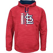 Majestic Men's St. Louis Cardinals Therma Base On-Field Red Authentic Collection Pullover Hoodie