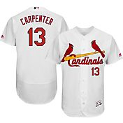 Majestic Men's Authentic St. Louis Cardinals Matt Carpenter #13 Home White Flex Base On-Field Jersey