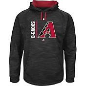 Majestic Men's Arizona Diamondbacks Therma Base On-Field Black Authentic Collection Pullover Hoodie