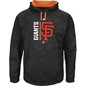 Majestic Men's San Francisco Giants Therma Base On-Field Black Authentic Collection Pullover Hoodie