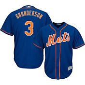 Majestic Men's Replica New York Mets Curtis Granderson #3 Cool Base Alternate Home Royal Jersey