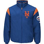 Majestic Men's New York Mets Therma Base Royal On-Field Premier Jacket