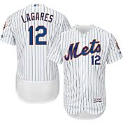Majestic Men's Authentic New York Mets Juan Lagares #12 Home White Flex Base On-Field Jersey