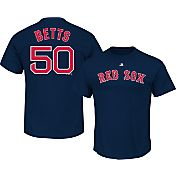 Majestic Men's Boston Red Sox Mookie Betts #50 Navy T-Shirt