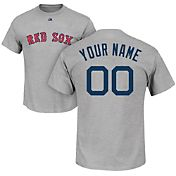 Majestic Men's Custom Boston Red Sox Grey T-Shirt
