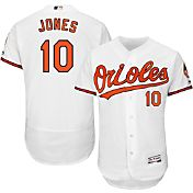Majestic Men's Authentic Baltimore Orioles Adam Jones #10 Home White Flex Base On-Field Jersey
