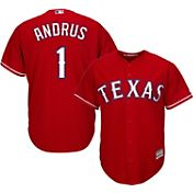 Majestic Men's Replica Texas Rangers Elvis Andrus #1 Cool Base Alternate Red Jersey
