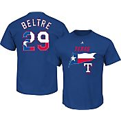 Majestic Men's Texas Rangers Adrian Beltre #29 Royal State Flag T-Shirt
