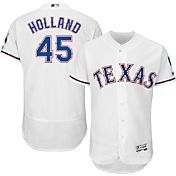 Majestic Men's Authentic Texas Rangers Derek Holland #45 Home White Flex Base On-Field Jersey