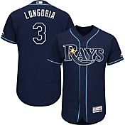 Majestic Men's Authentic Tampa Bay Rays Evan Longoria #3 Alternate Navy Flex Base On-Field Jersey