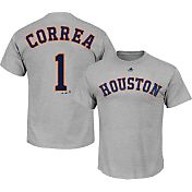 Majestic Men's Houston Astros Carlos Correa #1 Grey T-Shirt