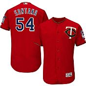 Majestic Men's Authentic Minnesota Twins Ervin Santana #54 Alternate Red Flex Base On-Field Jersey