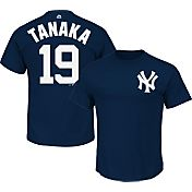 Majestic Triple Peak Men's New York Yankees Masahiro Tanaka Navy T-Shirt