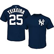 Majestic Men's New York Yankees Mark Teixeira #25 Navy T-Shirt