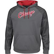 Majestic Men's Chicago Bulls Hardwood Classic Therma Base Armour II Grey Hoodie