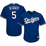 Majestic Toddler Replica Los Angeles Dodgers Corey Seager #5 Cool Base Alternate Royal Jersey