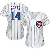 Majestic Women's Replica Chicago Cubs Ernie Banks #14 Cool Base Home White Jersey