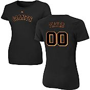 Majestic Women's Full Roster San Francisco Giants Black T-Shirt