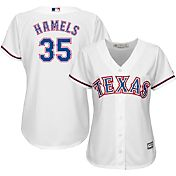 Majestic Women's Replica Texas Rangers Cole Hamels #35 Cool Base Home White Jersey