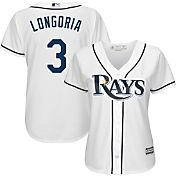 Majestic Women's Replica Tampa Bay Rays Evan Longoria #3 Cool Base Home White Jersey