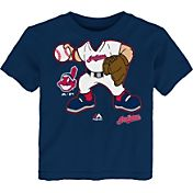 Majestic Infant Cleveland Indians Player Body Navy T-Shirt