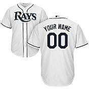 Majestic Youth Custom Cool Base Replica Tampa Bay Rays Home White Jersey