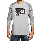 Majestic Threads Men's Philadelphia Flyers Grey 3/4 Sleeve Raglan T-Shirt