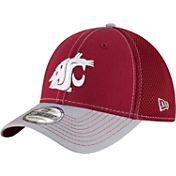 New Era Men's Washington State Cougars Crimson/Grey Team Front Neo 39Thirty Hat