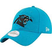 New Era Men's Carolina Panthers Perf Shore 9Twenty Blue Adjustable Hat