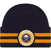New Era Men's Buffalo Sabres Two Stripe Remix Knit Hat