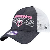 New Era Youth Girls' Minnesota Twins 9Twenty Denim Stitcher Adjustable Hat