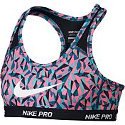 Nike Girls' Pro Hypercool Printed Compression Sports Bra