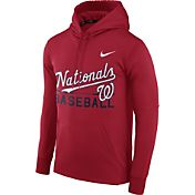 Nike Men's Washington Nationals Dri-FIT Red Therma Pullover Hoodie