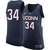 Nike Men's UConn Huskies #34 Blue Authentic ELITE Basketball Jersey