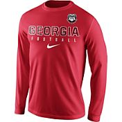 Nike Men's Georgia Bulldogs Red Football Practice Long Sleeve Shirt