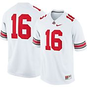 Nike Men's Ohio State Buckeyes White #16 Game Football Jersey