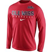 Nike Men's Ole Miss Rebels Red Football Practice Long Sleeve Shirt