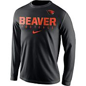 Nike Men's Oregon State Beavers Football Practice Black Long Sleeve Shirt